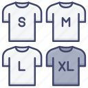 clothes, clothing, measurement, size icon