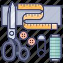 custom, kits, tailor, tools icon