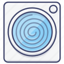 spin, wash, laundry, machine icon