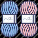 ball, knitting, wool, yarn