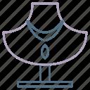 accessories, chain, double, fashion, necklace, pendant, woman