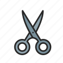 fashion, fashion design, garment manufacturing, scissors icon