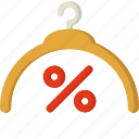 discount, fashion, hanger, sale, shopping icon