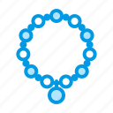 bracelet, jewelry, mala icon