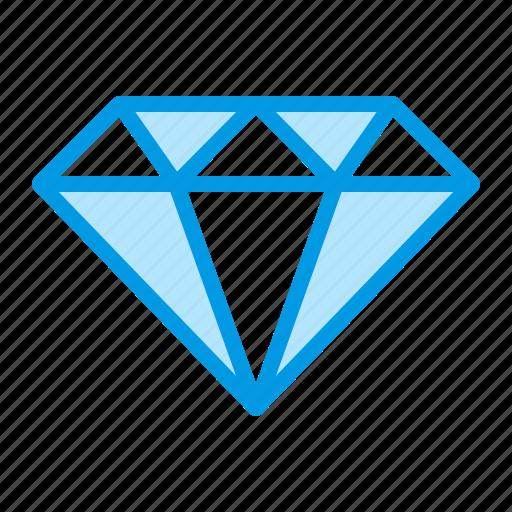 Brilliant, diamond, jewelry, luxury icon