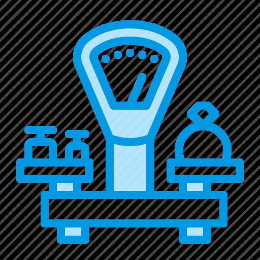 jewelry, pawnshop, scales icon