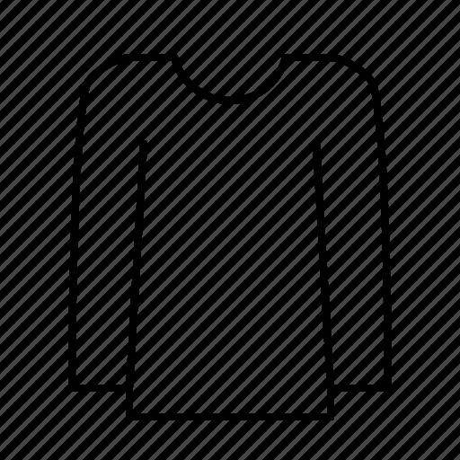 clothes, collar, fashion, laundry, longshirt, round, wear icon