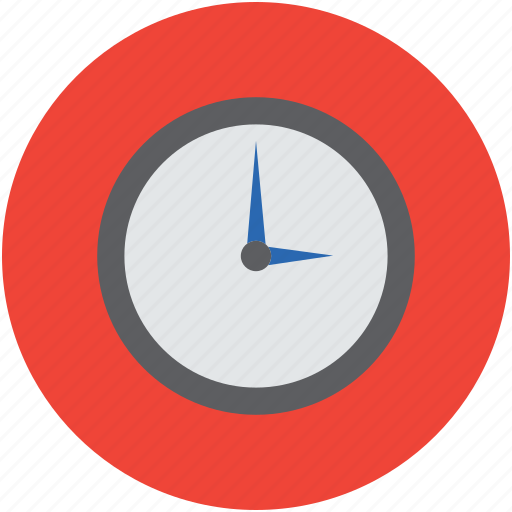 clock, time, timekeeper, timepiece, timer, wall clock, watch icon