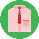 clothes, clothing, dress shirt, formal shirt, necktie, shirt