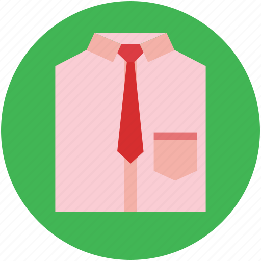 clothes, clothing, dress shirt, formal shirt, necktie, shirt icon