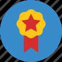 award badge, badge, emblem, ribbon badge, star sign icon