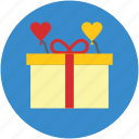 celebrations, fashion, gift, gift box, love symbol, party, present icon