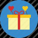 celebrations, fashion, gift, gift box, love symbol, party, present