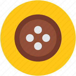 button, cloth button, coat button, round button, sewing accessory icon