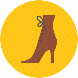 high heel, party shoe, pumps, roman boot, spike ankle, spike ankle boot icon