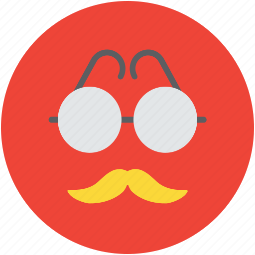 fashion, funny mask, glasses and mustache, hipster, mask icon