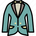bow, cloth, formal, men, party, style, suit icon