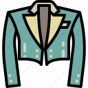 circus, cloth, magician, style, suit icon