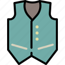 cloth, men, party, style, suit, vest icon