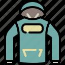 cloth, hood, sport, style, sweater, winter icon