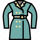 cloth, coat, fashion, overcoat, style, winter, woman icon