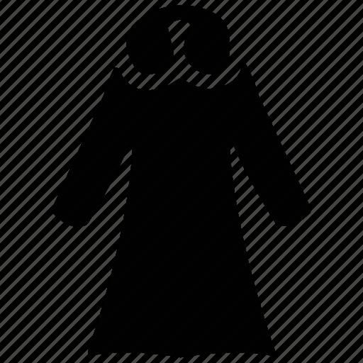 clothing, dress, fur collar dress, ladies dress, women's icon