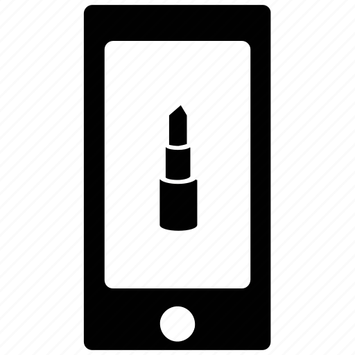 mobile screen, screen, screen lipstick, smartphone, tablet icon