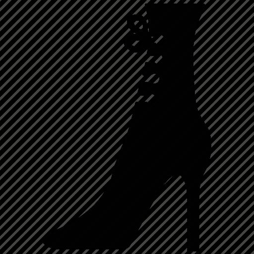 fashion, fashion shoe, footwear, ladies shoe, women's shoe icon
