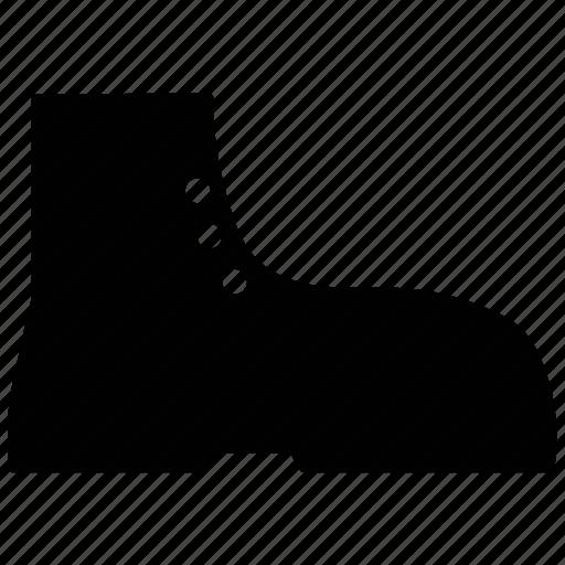 boot, combat boot, footwear, men's shoe, shoe icon