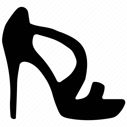fashion, high heel, ladies sandal, open-toed, sandal icon