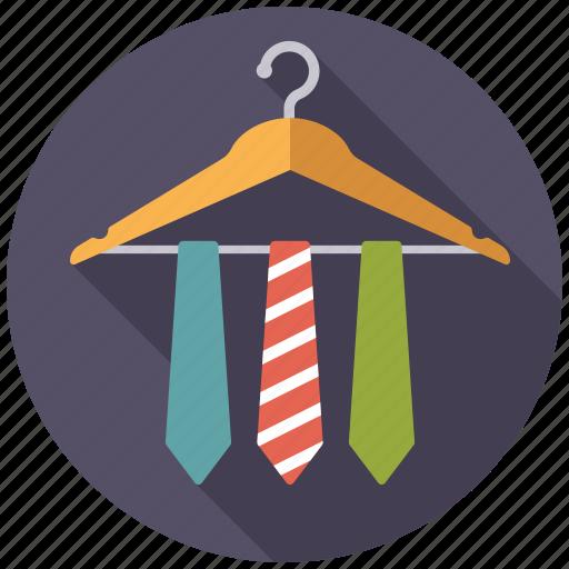 accessories, cloth hanger, clothing, fashion, garments, ties, wardrobe icon