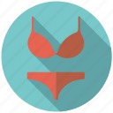 bra, clothing, fashion, slip, underpants, underwear, wardrobe icon
