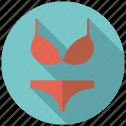 bra, clothing, fashion, slip, underpants, underwear, wardrobe icon