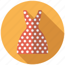 clothing, dress, fashion, garment, polka dots, wardrobe, women's wear icon