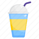 cold drink, drink, fizzy drink, juice, juice with straw icon