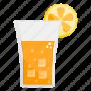 cold drink, drink, fizzy drink, fruit juice, orange juice icon