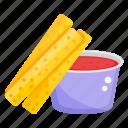 french fries, potato fries, fries box, frites, snack box icon