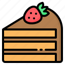 bakery, cake, chocolate, dessert, food, slice, strawberry