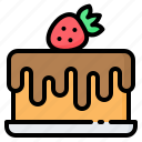 bakery, birthday, cake, chocolate, dessert, food, strawberry