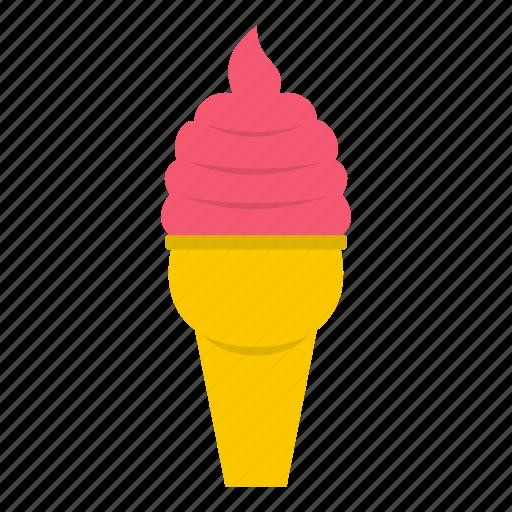cone, cream, dessert, flavor, ice, sweet, waffle icon
