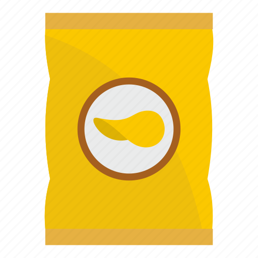 chip, crisp, food, pack, package, potato, snack icon
