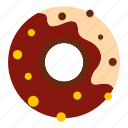 chocolate, dessert, donut, food, pastry, sugar, sweet icon