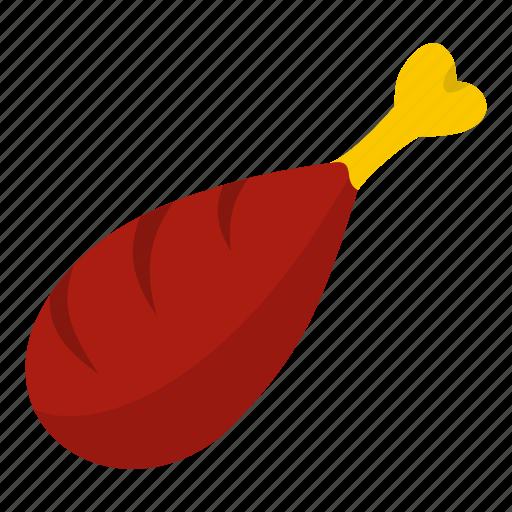 chicken, dinner, fat, food, leg, meat, nutrition icon