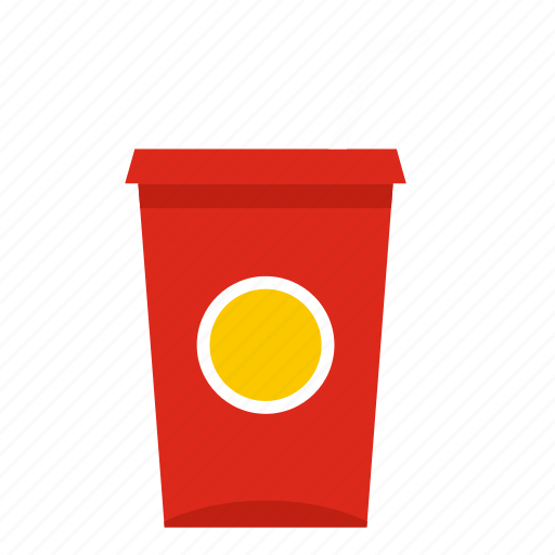 beverage, cold, cup, drink, paper, soda, straw icon