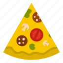 slice, food, fast, lunch, dinner, meal, pizza icon