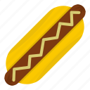 sausage, meat, food, dog, dinner, bun, bread icon