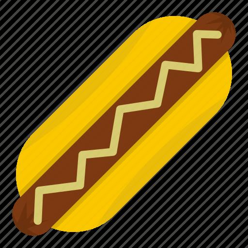 bread, bun, dinner, dog, food, meat, sausage icon