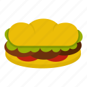 sandwich, meat, beef, food, burger, patty, bread icon