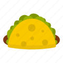 mexican, meat, food, dinner, taco, tortilla, meal icon