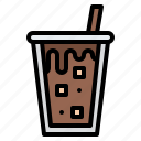 coffee, cold, drink, ice